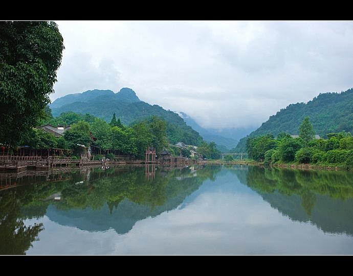 四川柳江古镇 现实版的山水画卷 - H哥 - H哥的博客