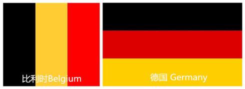 欧洲国家的旗帜归纳起来有四个特点:三色为主