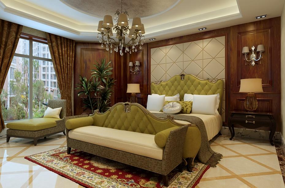 欧式风格别墅装修案例——欧式卧室设计