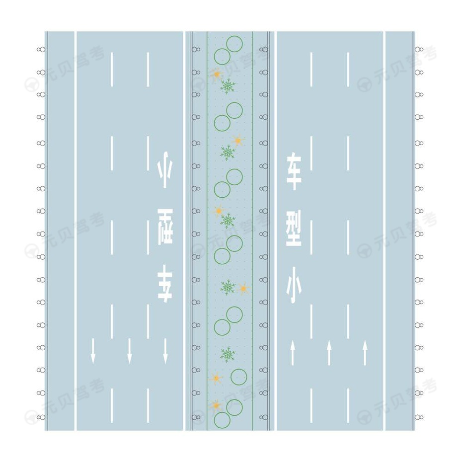 小型车专用车道线