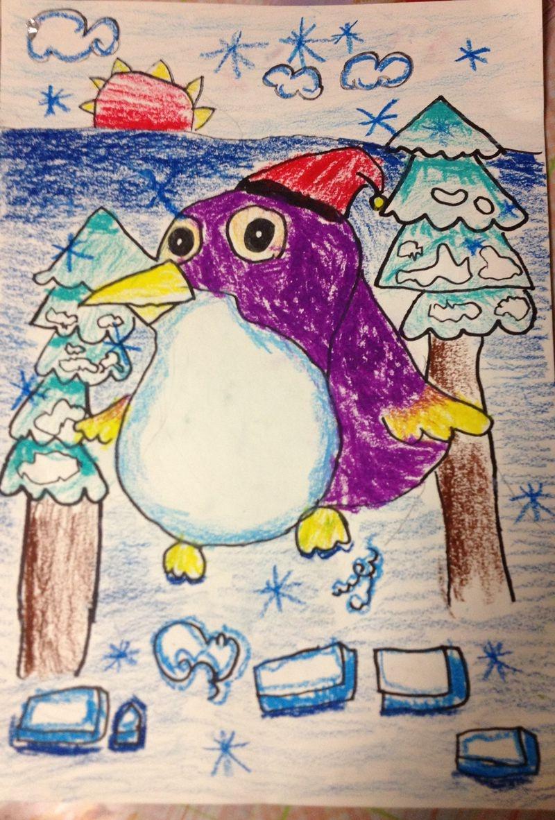 这张我说是乐乐画的怀孕的企鹅,哈哈.