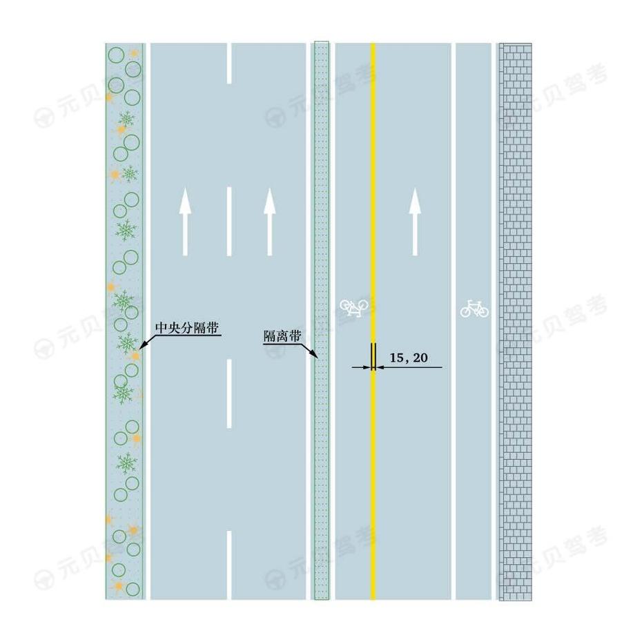 黄色单实线车行道边缘线