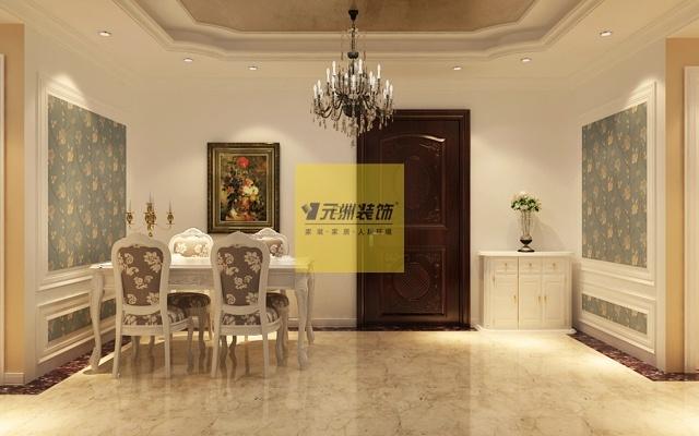 西部枫景傲城3室2厅2卫1厨121平米欧式装修效果图