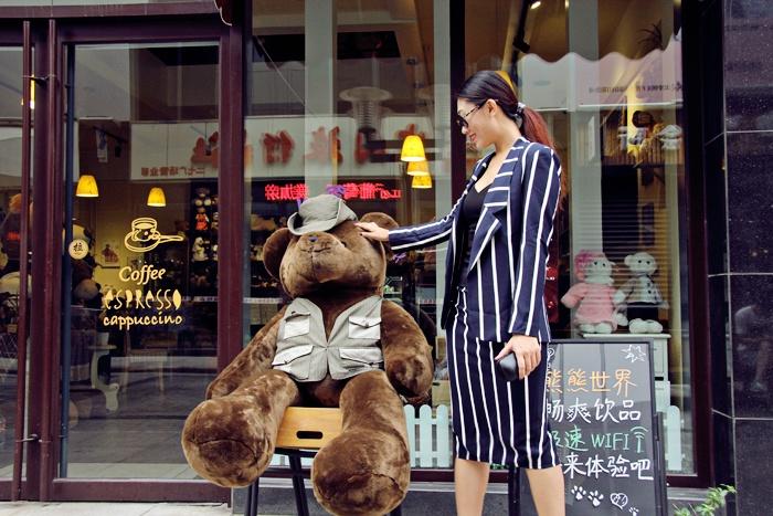 【Anko搭配】霸道女总裁的秋末搭 条纹职业套装 - Anko - Anko