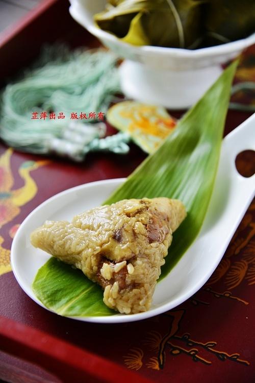 预热端午——蛋黄板栗肉粽 - 慢美食 - 慢 美 食