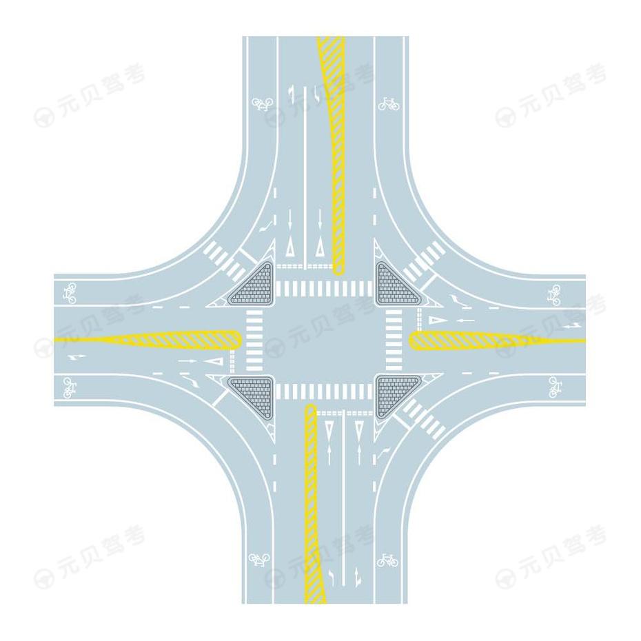 十字交叉口导流线