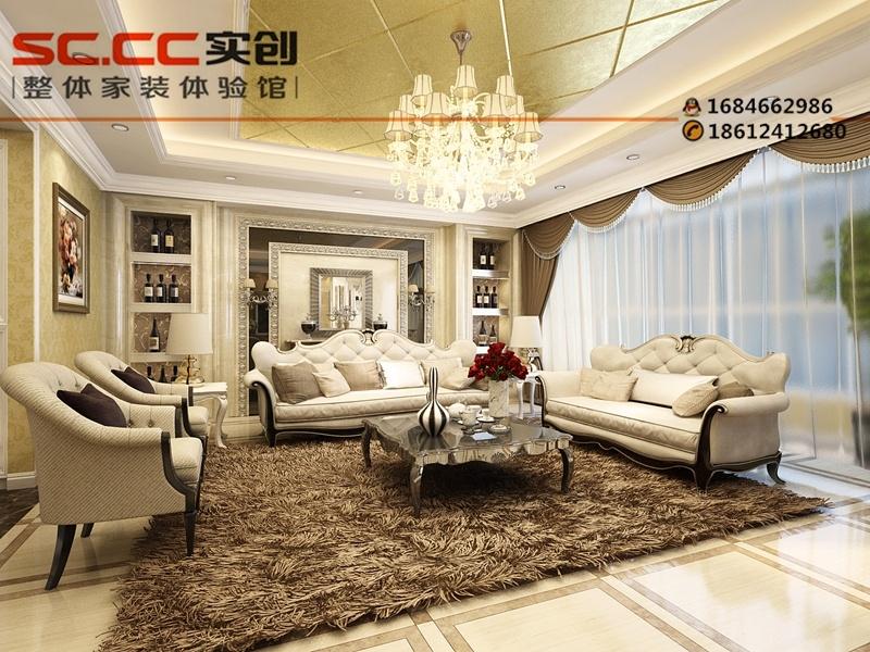 392平别墅借鉴图-欧式风格装修设计方案-客厅设计