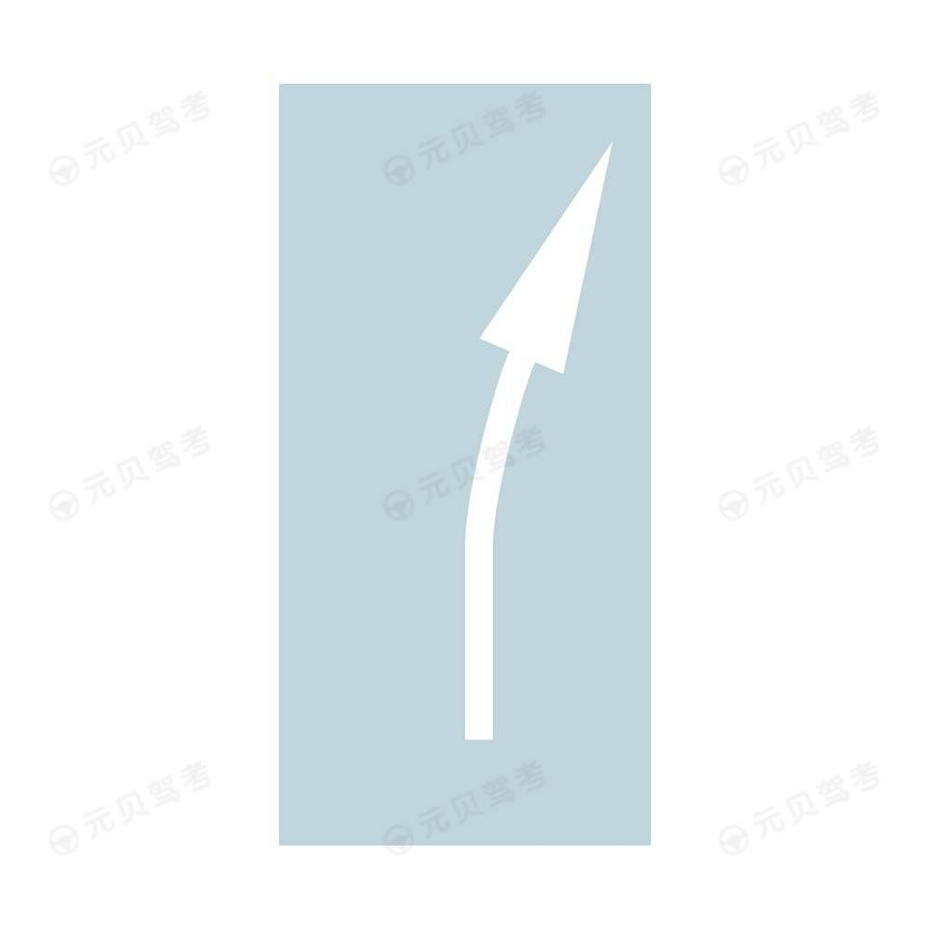 提示前方道路有右弯或需向右合流