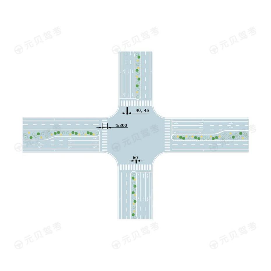 与道路中心线垂直的人行横道