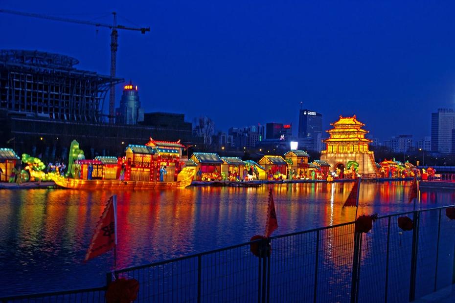 元宵夜幻彩水立方,奥体灯清明上河图 - 侠义客 - 伊大成 的博客