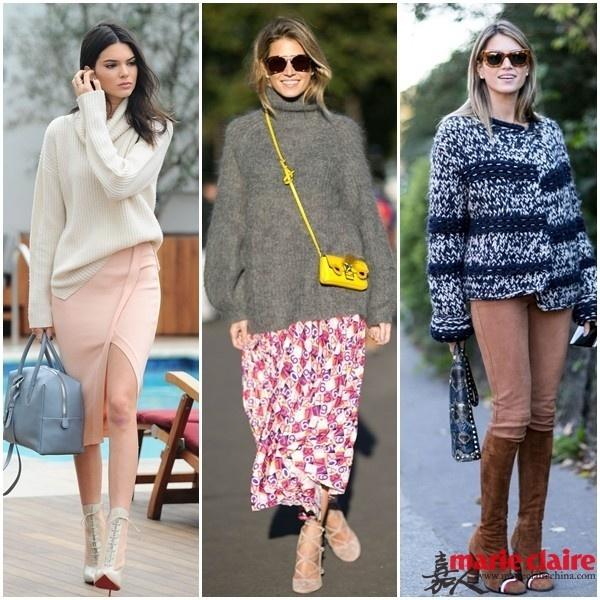秋天已达冬季未满 向她们学习正确使用粗毛衣 - 嘉人marieclaire - 嘉人中文网 官方博客