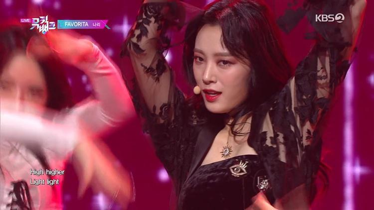 Nari - Favorita (200117 KBS Music Bank) 60f [百度网盘/154M](女团现场)