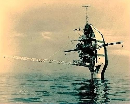 世界唯一与水面垂直的船:美国浮式仪器平台 - 追真求恒 - 我的博客