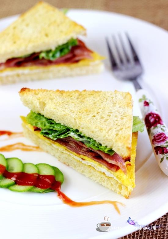 培根三明治 - 慢美食博客 - 慢美食博客 美食厨房