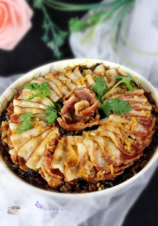 盐菜蒸培根 - 叶子的小厨 - 叶子的小厨