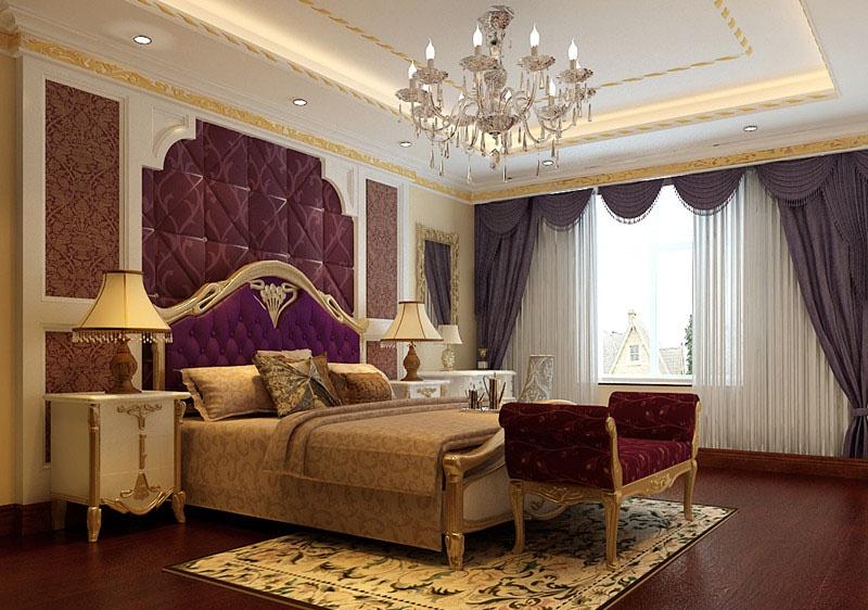 客厅里采用了白色欧式家具和浅色的墙漆来突显清新明