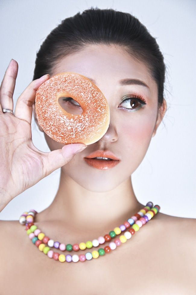 【Anko彩妆】可爱吃货这样过夏天 玩色炫彩妆容 - Anko - Anko