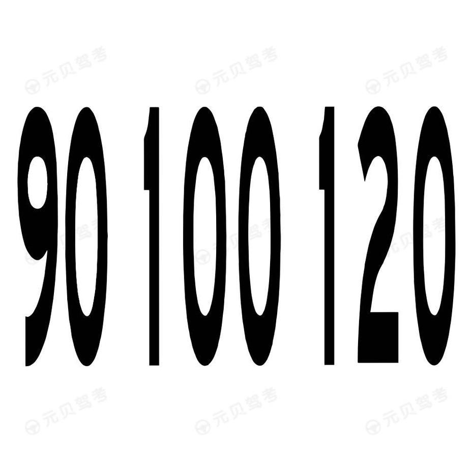 路面限速标记字符2