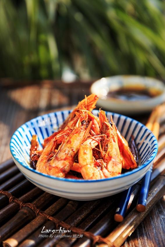 黄酒油焖虾 -- 大餐小宴的应景菜-狼之舞 - 荷塘秀色 - 茶之韵