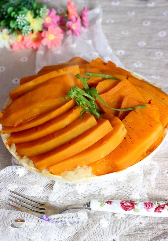 糯米南瓜 - 叶子的小厨 - 叶子的小厨