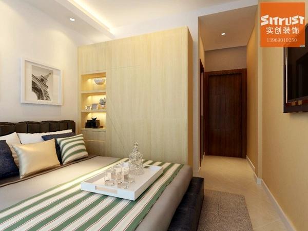 90平米-现代简约风格装修效果图-门厅装修设计-济南