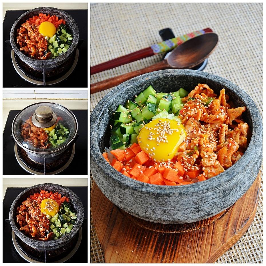 自制经典的韩餐料理--猪肉泡菜石锅拌饭 - 纸皮核桃 微信 c24628 - 185纸皮核桃的美食博客