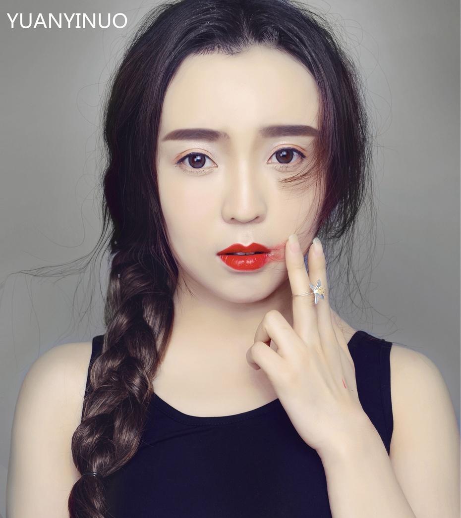 【袁一诺vivian】一抹红唇迎新年,Angelababy仿妆 - 小一 - 袁一诺vivian