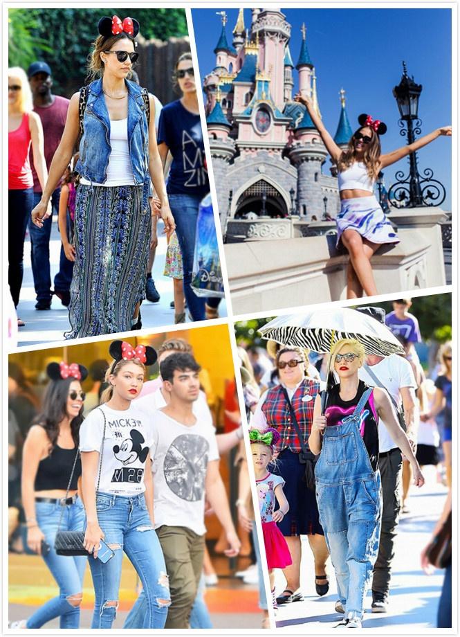 捉住暑假的尾巴 明星去迪士尼都穿什么? - 嘉人marieclaire - 嘉人中文网 官方博客