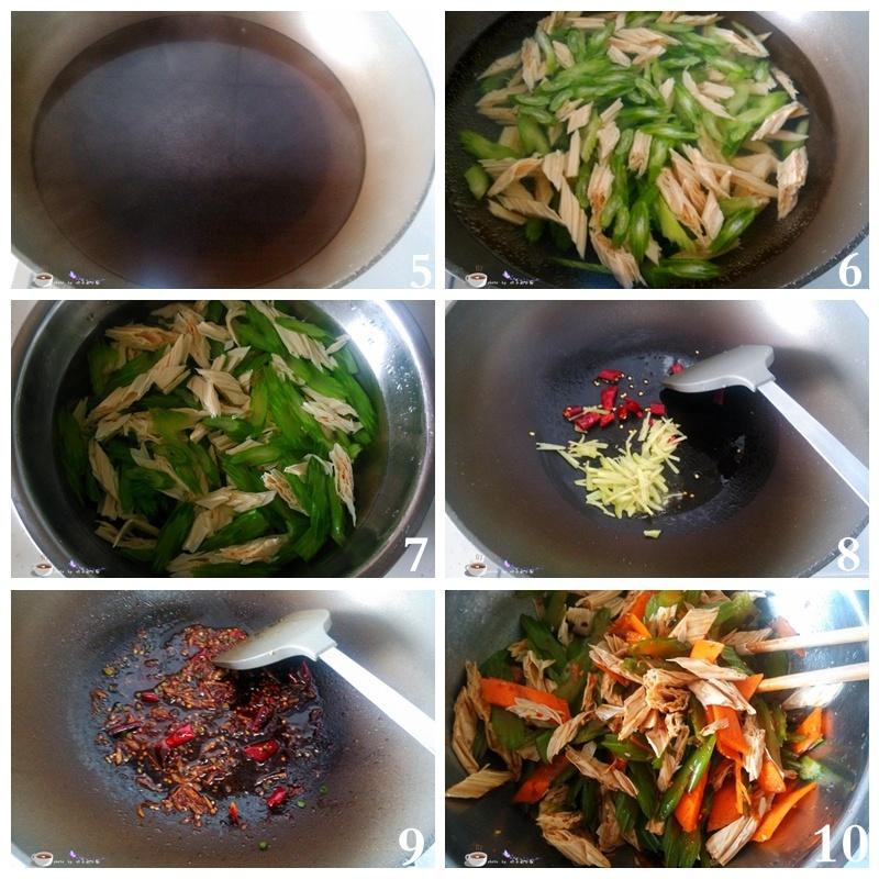适合三高人群的菜肴--芹菜拌腐竹 - 叶子的小厨 - 叶子的小厨