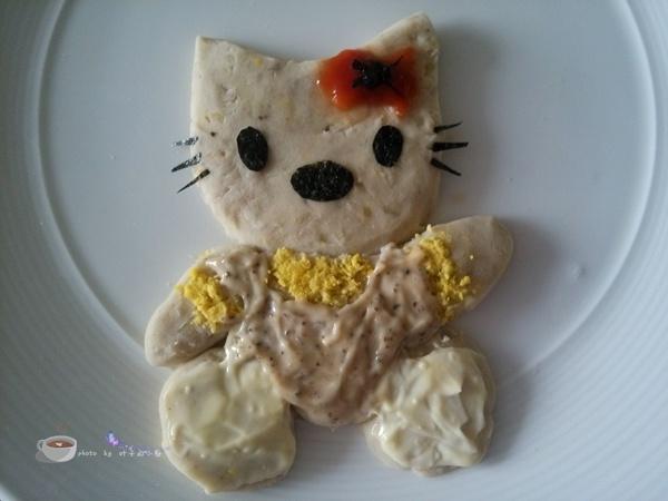 卡通沙拉酱香芋泥 - 叶子的小厨 - 叶子的小厨