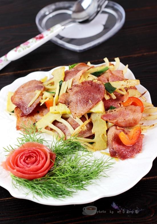 春笋炒培根 - 叶子的小厨 - 叶子的小厨