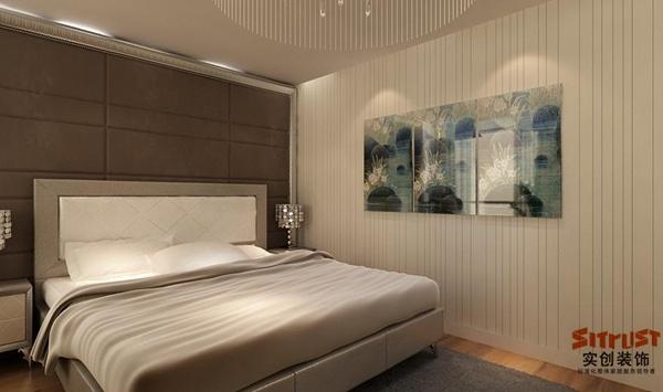 名泉春晓105平米装修设计图-现代简约风格卧室设计