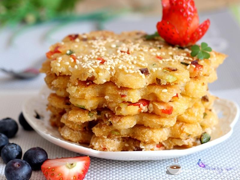 剩米饭的华丽转身---香煎米饭饼 - 叶子的小厨 - 叶子的小厨