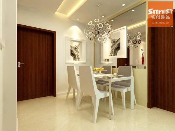 90平米-现代简约风格装修效果图-客厅装修设计-济南