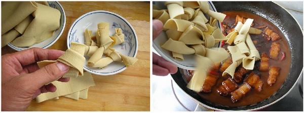 豆腐皮烧肉的做法
