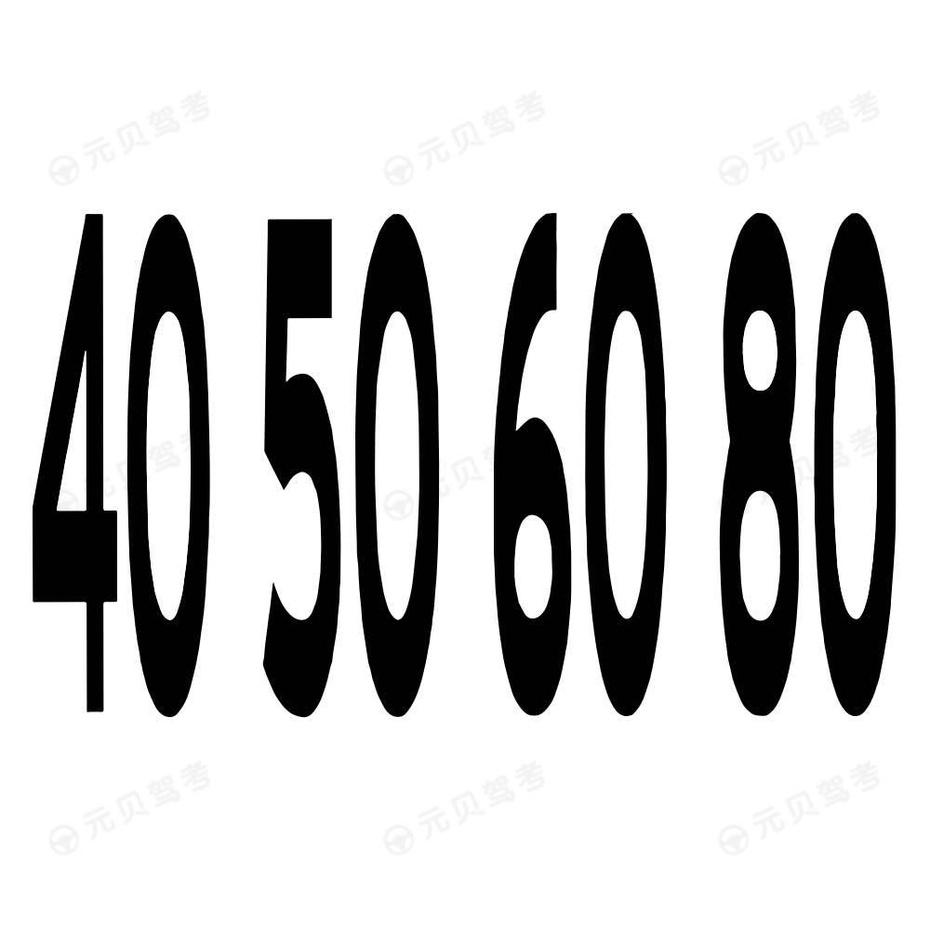 路面限速标记字符1