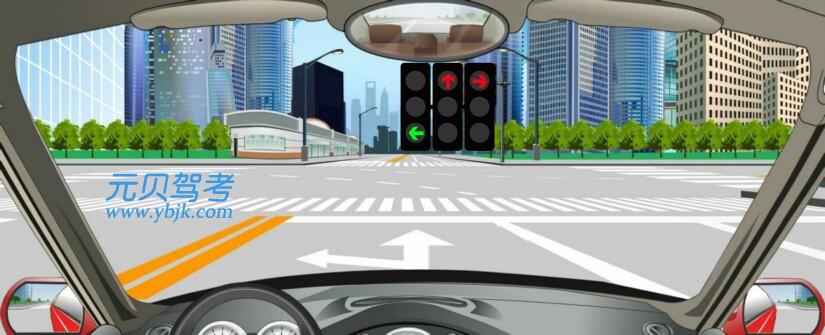 這個路口允許車輛怎樣行駛?A、向左轉彎B、直行C、直行或向右轉彎D、向右轉彎答案是A