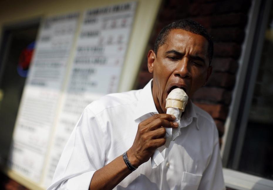 吃货奥巴马那些狼吞虎咽的瞬间 - 心路独舞 - 心路独舞