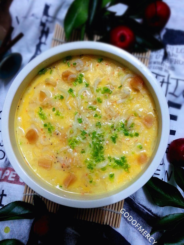 鲜美无敌春季养生汤羹~干贝银鱼海米蛋羹 - 慢美食博客 - 慢美食博客 美食厨房