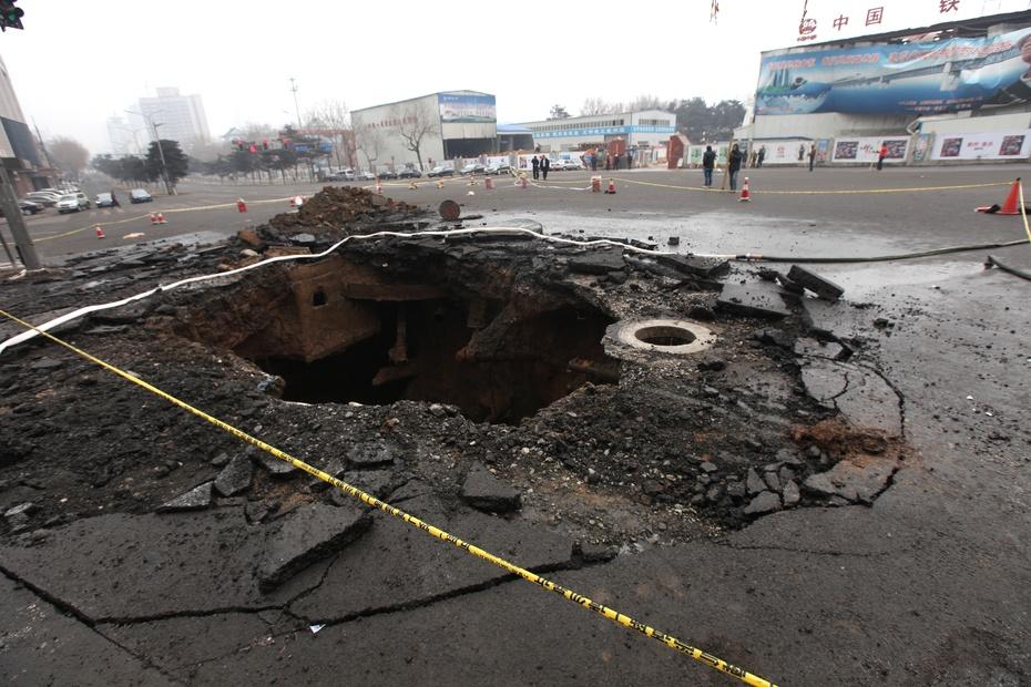长春发生煤气泄漏 交通主干道封闭 - 东亚影像 - 东亚影像