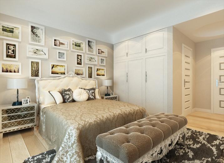 保利玫瑰湾装修图-简约中式装修效果-毛坯房装修-两居室装修-天津实