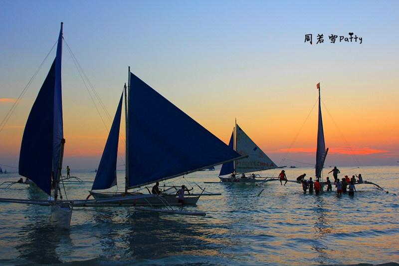 【周若雪Patty】菲律宾长滩岛——无动力帆船出海看日落 - 周若雪Patty - 周若雪Patty