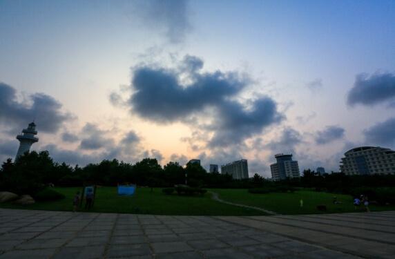 山东日照灯塔风景区——日照海滨港口城市的象征