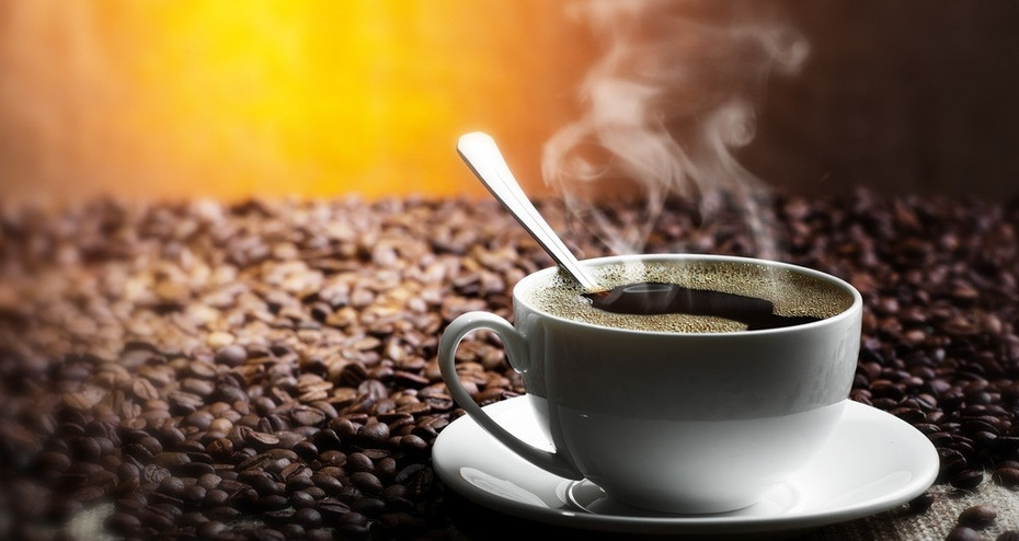 白领休闲喝咖啡背景 素材