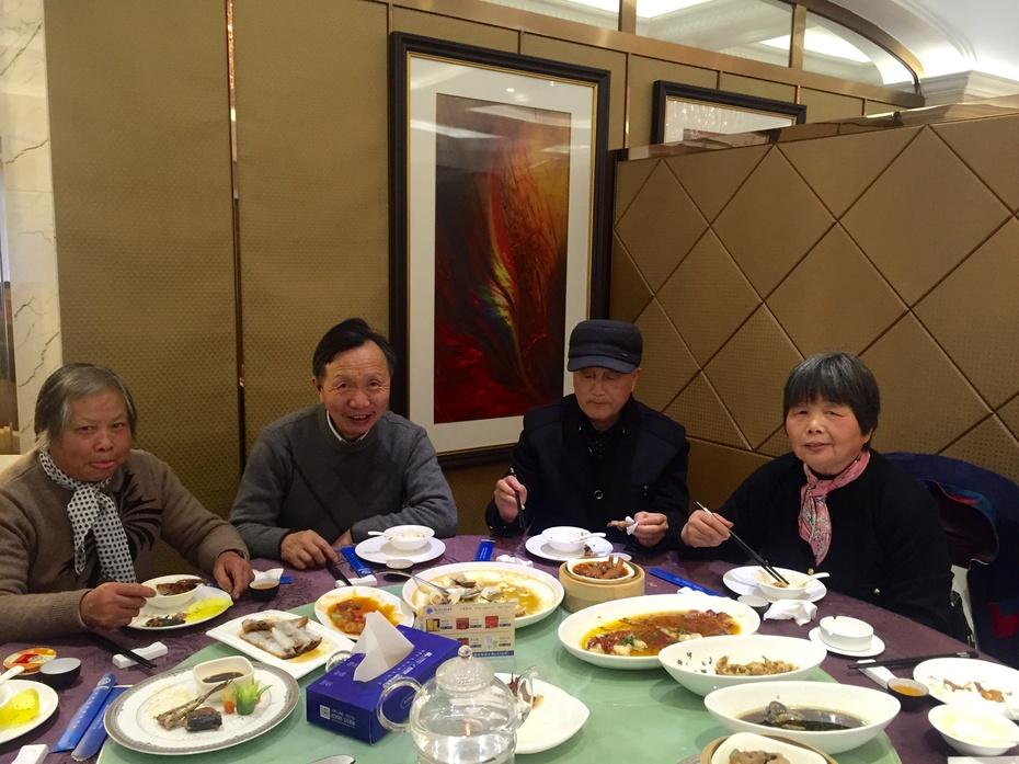 和父母一起享受美食 - 蔷薇花开 - 蔷薇花开的博客