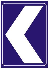 线形诱导标基本单元用于引导行车方向,提示道路使用者前方线形变化,注意谨慎驾驶。设于一般道路上易发生事故的弯道、小半径匝道曲线外侧、视线不好的T型交叉口等处。