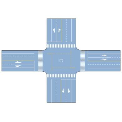 非机动车禁驶区标线