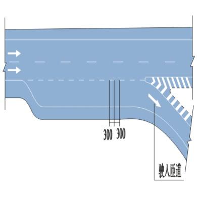平行式出口标线