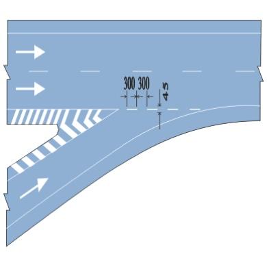直接式入口标线