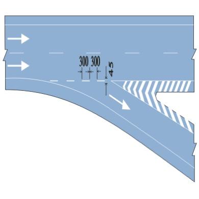 直接式出口标线